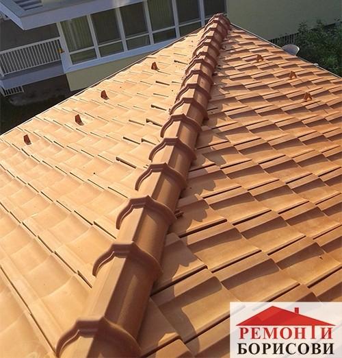 Изграден покрив от Ремонти Борисови